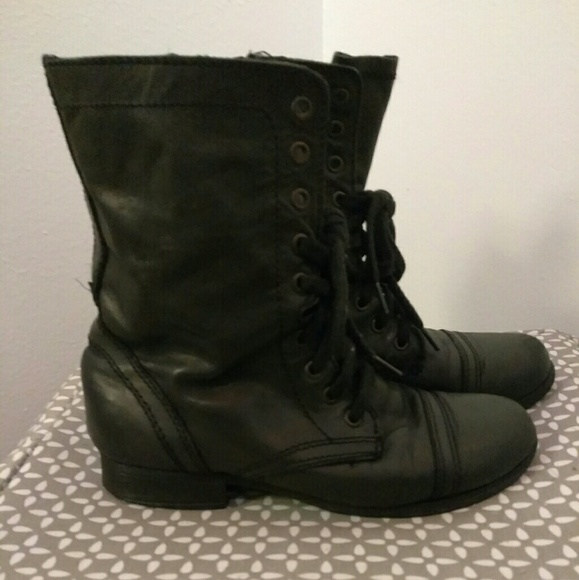 2352767bfff Black ankle combat boots